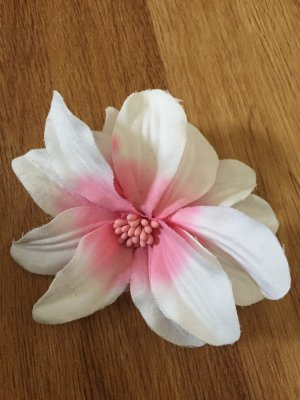 Hair Pin white-pink
