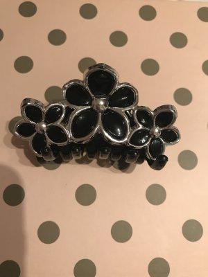 Bijou Brigitte Haarelastiek zwart-zilver kunststof