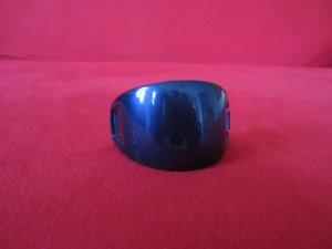 Haarspange blau metallic