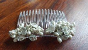 Haarspange - Glitzer und Perlen, für die Hochzeit / Braut