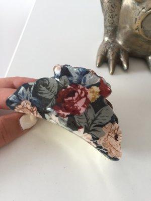Haarspange Gold mit Blumen