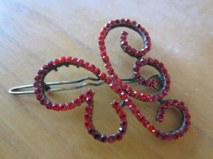 Hair Clip red-dark red