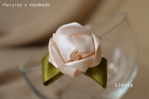 Hair Clip pink-olive green