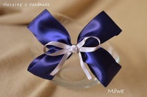 Hair Clip dark blue-light grey