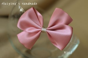 Hair Clip pink-natural white
