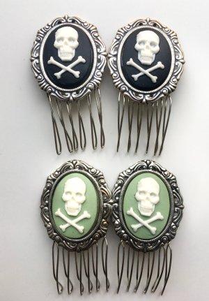 Haarspange Kamm mit Totenkopfmotiv Skull Gothic WGT xtrax