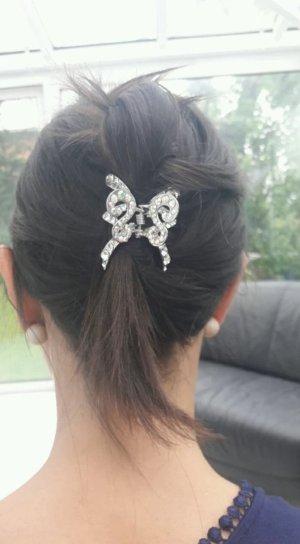 Haarspange mit Steinchen Haarschmuck Hochzeit silber