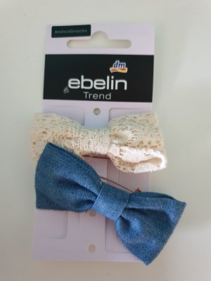 Ebelin Épingle à cheveux or rose-bleu azur