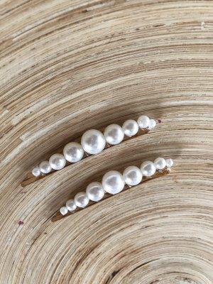 Haarspangen mit Perlen (2 Stück)