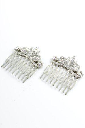 Haarelastiek zilver elegant