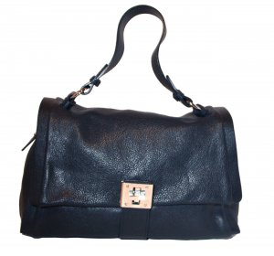 0039 Italy Carry Bag black leather