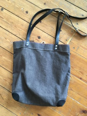 Carry Bag anthracite-black linen