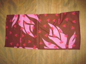 Scaldacollo marrone-rosa chiaro