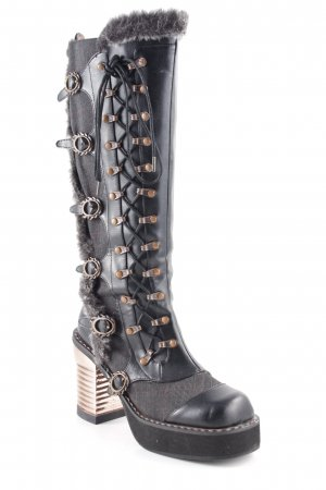 Hades Gothic Boots check pattern extravagant style