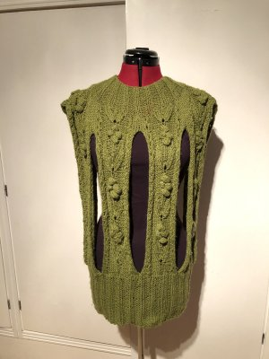 Crochet Cardigan olive green