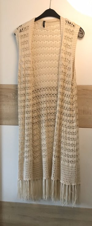 Long Knitted Vest cream