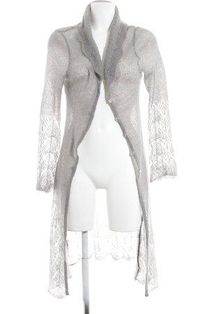 Cardigan all'uncinetto grigio modello web stile casual