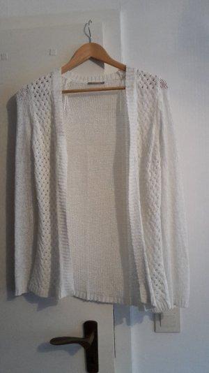 Häkel cardigan in weiß