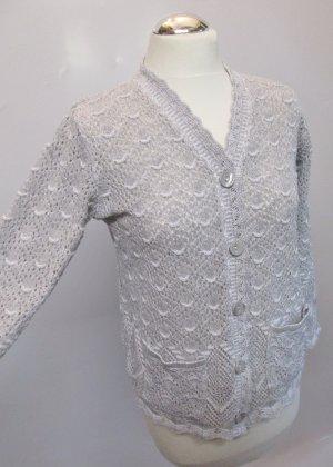 Cardigan en crochet multicolore tissu mixte