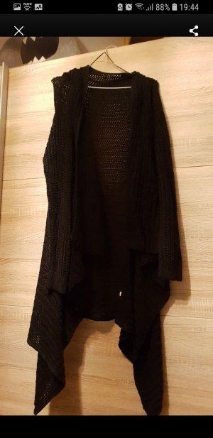 Gehaakte cardigan zwart