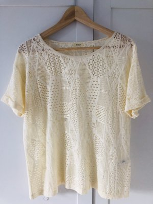 Yerse Crochet Shirt natural white