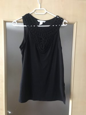 H&M Top a uncinetto nero
