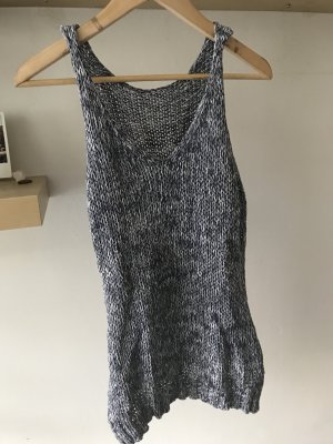Atmosphere Knitted Top steel blue-white