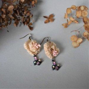 Häkel Vintage Ohrringe