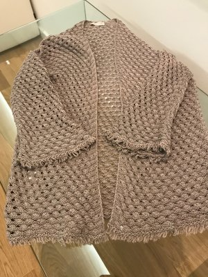 Stefanel Cardigan all'uncinetto marrone chiaro