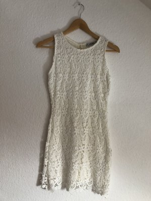 Pull & Bear Lace Dress white-natural white