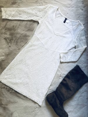 H&M Abito di maglia bianco sporco-bianco