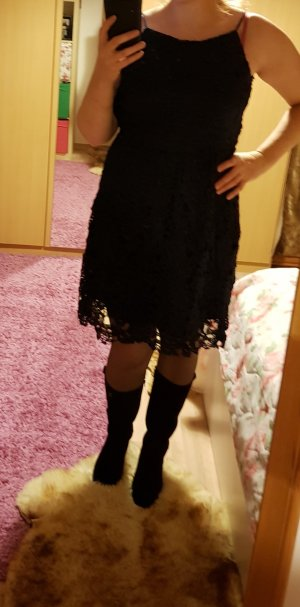 Häkelkleid Spitzenkleid Minikleid Kleid Gr. 42 (M/L) Only dunkelblau