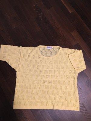 Häkelpulli, gelb, Gr. 52, Wenig getragen Pullover