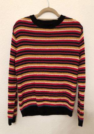 Even & Odd Pull en crochet multicolore coton