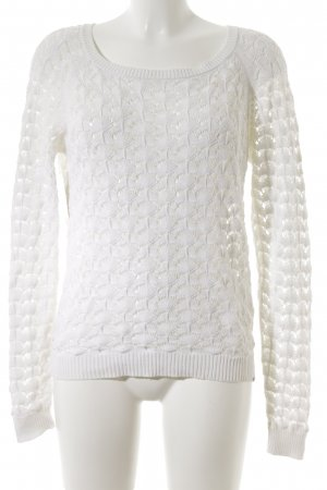 Crochet Sweater white embellished pattern vintage look