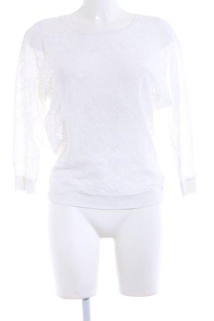 Pullover all'uncinetto bianco modello web Stile Boho