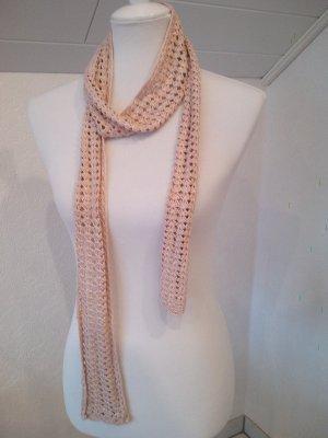 Pieces Écharpe en crochet marron clair-beige