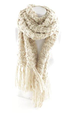 Écharpe en crochet beige molletonné
