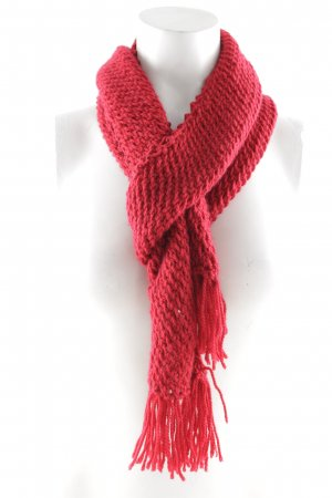 Crochet Scarf dark red casual look