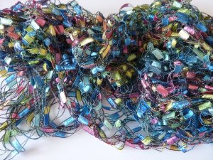 Écharpe en crochet multicolore