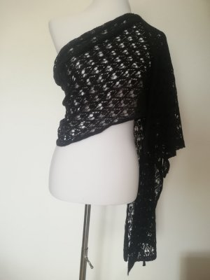 Bufanda de ganchillo negro