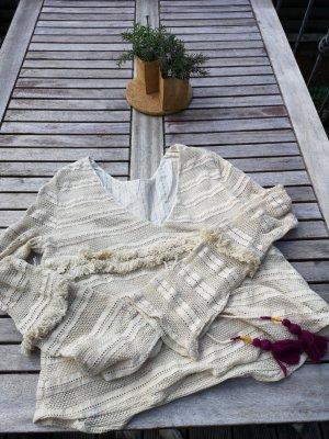 Zara Gehaakt shirt wolwit-violet