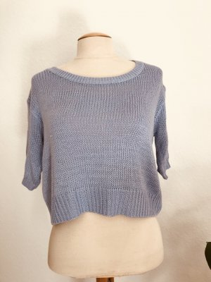 H&M Top en maille crochet bleu azur