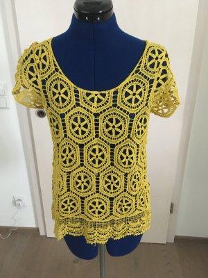 Zabaione Crochet Shirt sand brown