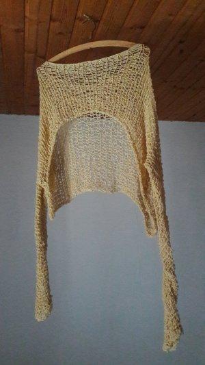 Camisa tejida amarillo claro