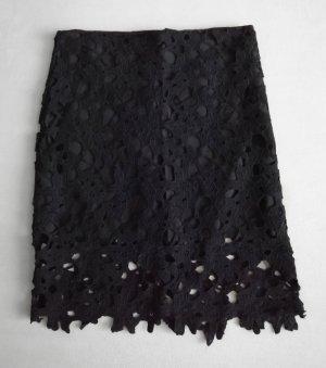 Kanten rok zwart