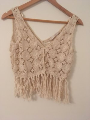 Zara Crochet Top cream