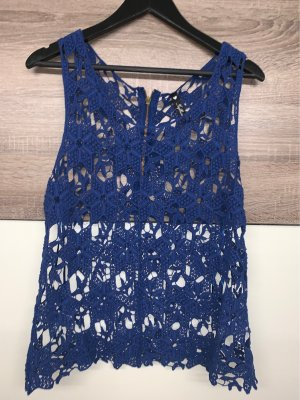 Influence Top a uncinetto blu