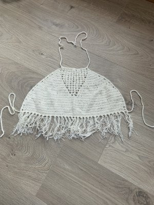 Crochet Top natural white-white