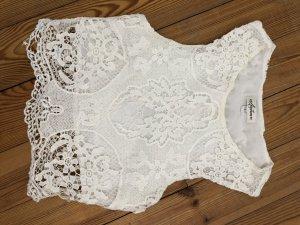Crochet Top white cotton